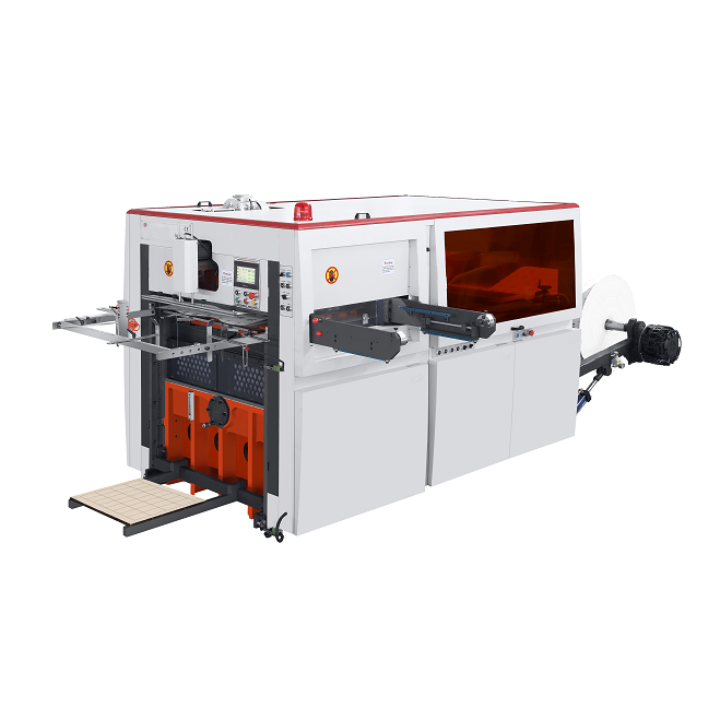 Food grade high speed roll creasing die-cutting machine for hamburger box manufacturer
