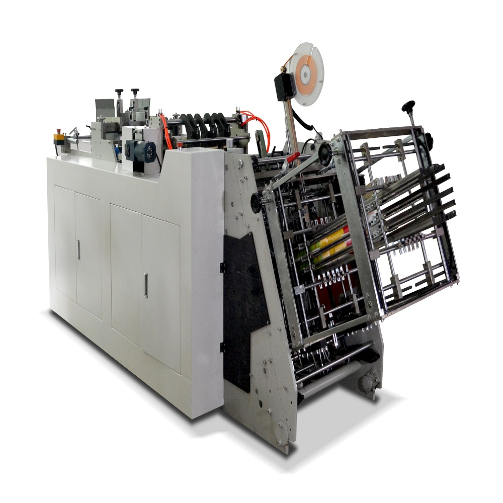 Long service time paper lunch box making machine